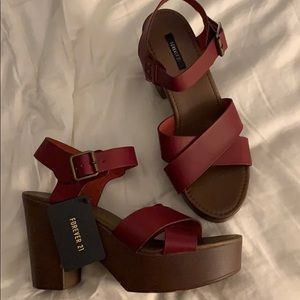 NWT Forever 21 Chunky Heels